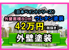 ミカジマ外壁塗装セット価格 ¥49,8000(税別)